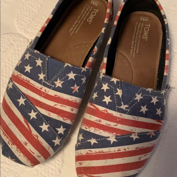 Toms Shoes   Toms Patriotic Red White